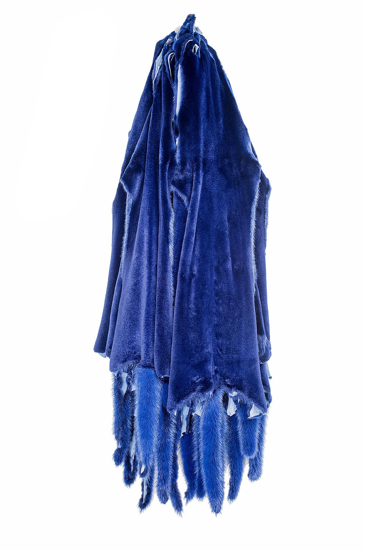 Норка Cиний вельвет щипаная (Blue Velvet Sheered)