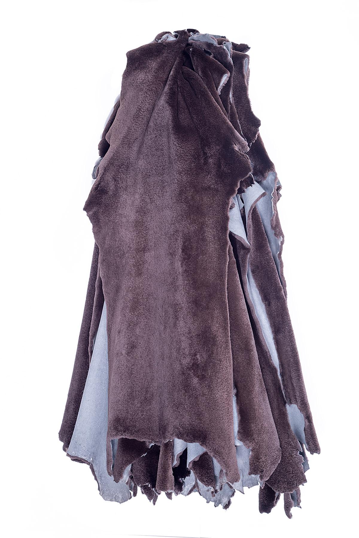 Норка коричневый вельвет щипаная (Chocolate Velvet Sheered)