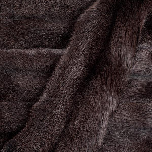 Песец Коричневый вуалевый крашеный (Blue Fox dyed Brown Fox)