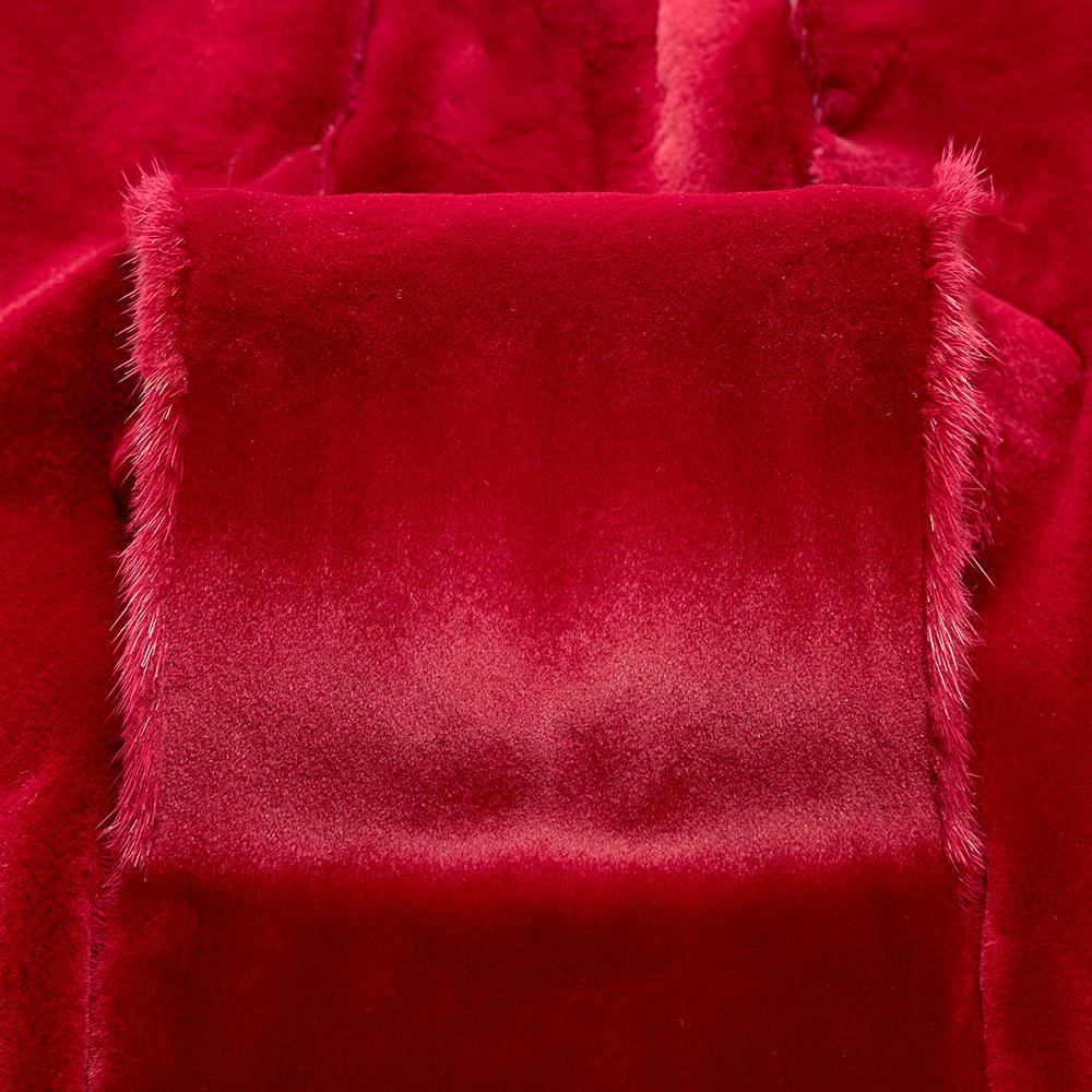 Норка Красный вельвет щипаная (Red Velvet Sheered)